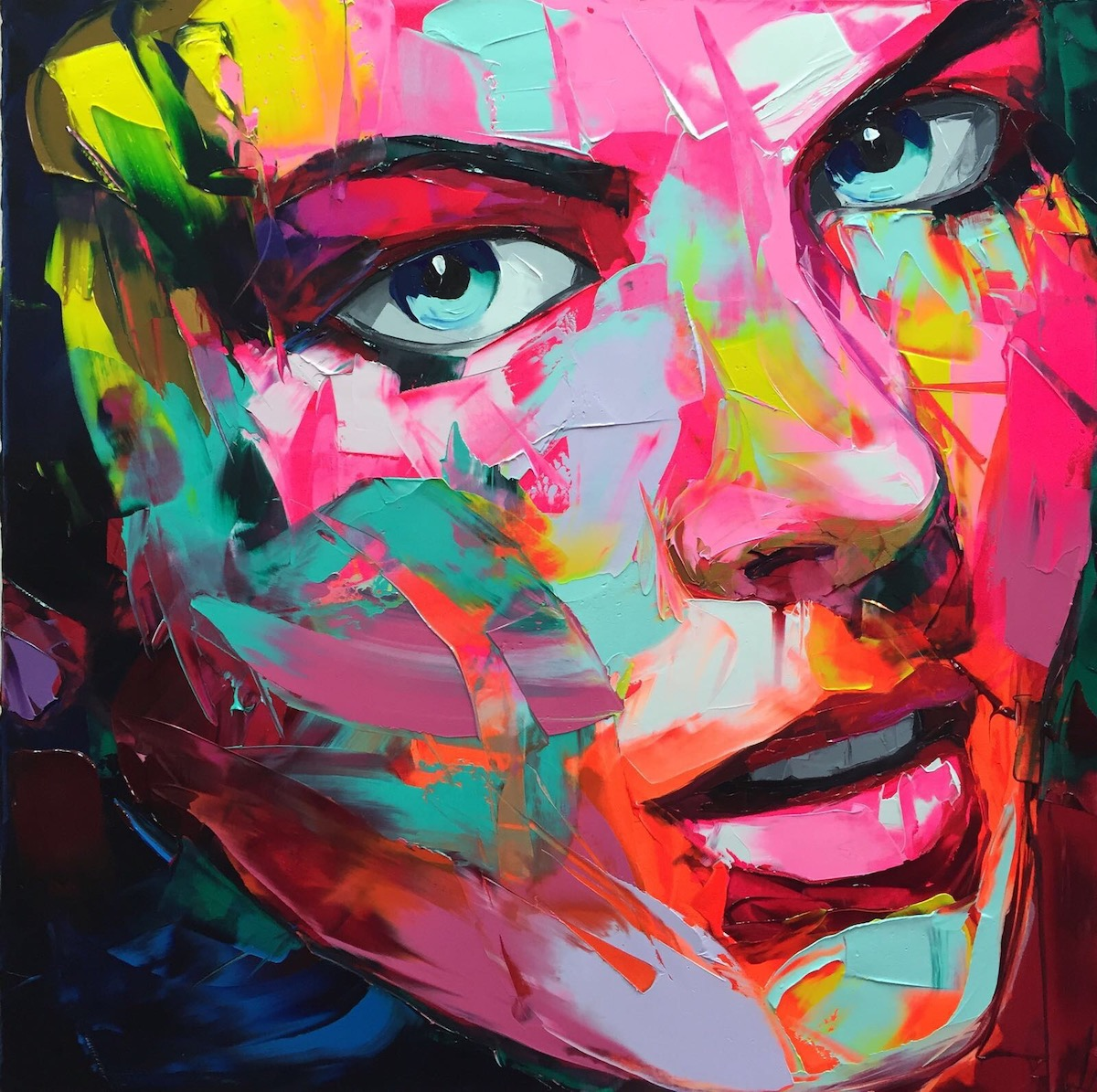 Palette Knife Portrait by