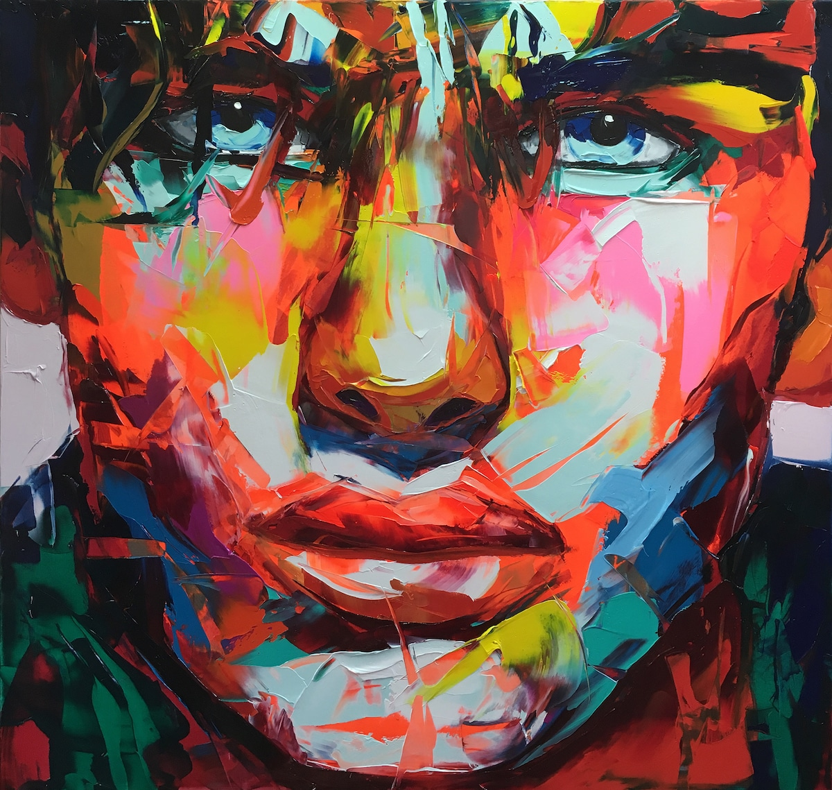 Palette Knife Portrait by Françoise Nielly