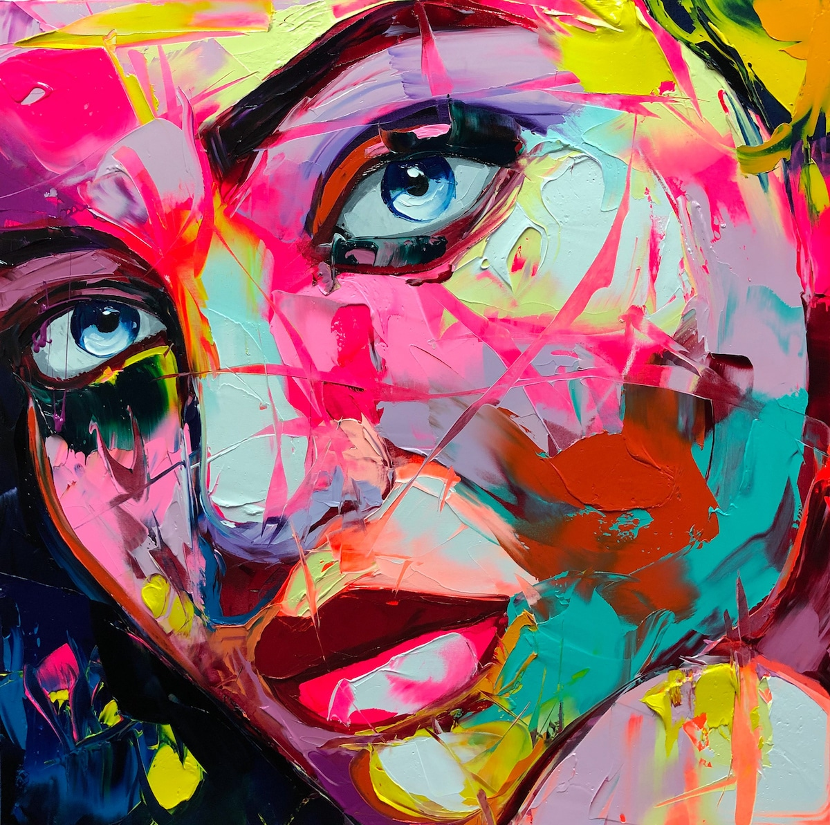 Palette Knife Oil Painting by Françoise Nielly