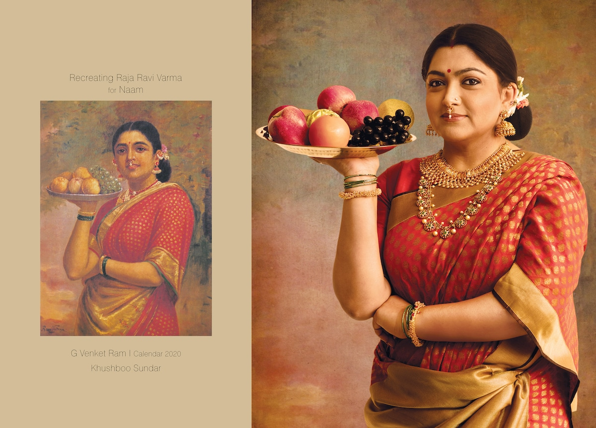 Paintings Recreated as Photos of Raja Ravi Varma's Work