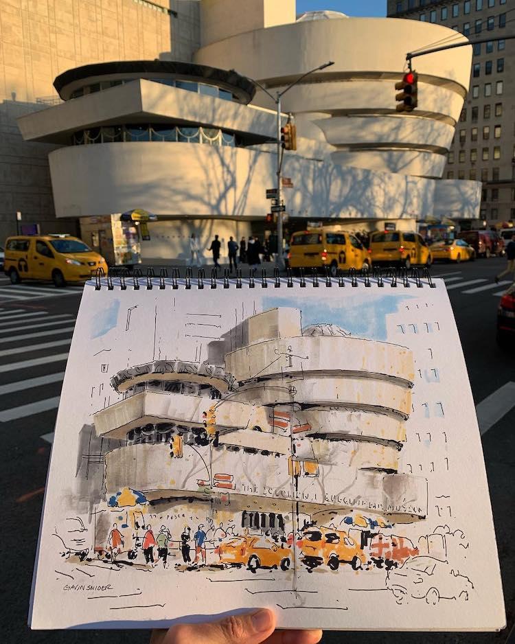 dibujos de nueva york