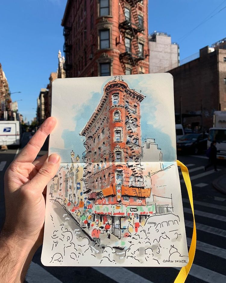 Urban Sketching by Gavin Snider