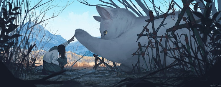 Giant Animal Illustrations by Monokubo