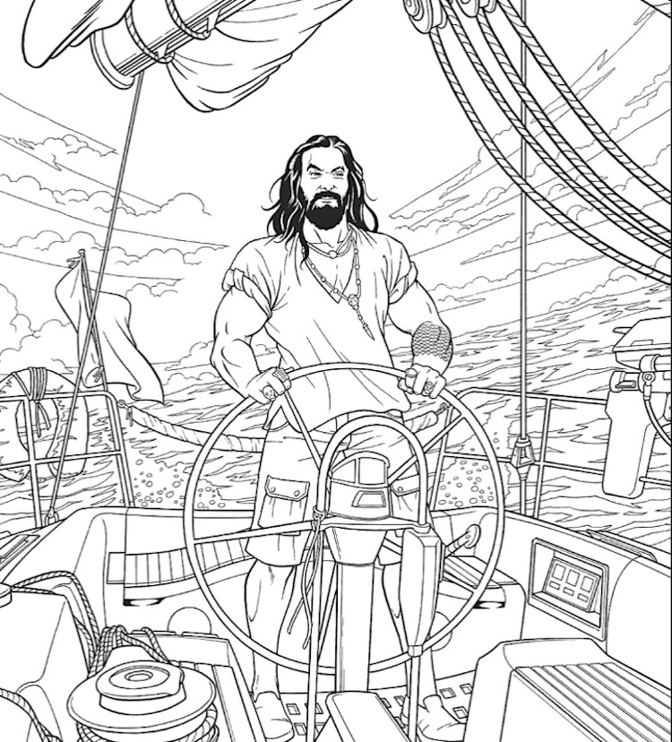 This Fantastic Jason Momoa Coloring Book Will Inspire Your Downtime