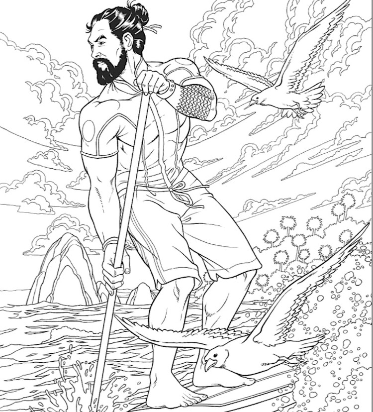Jason Momoa Coloring Book