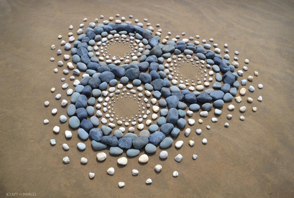Obras de arte con piedras por Jon Foreman