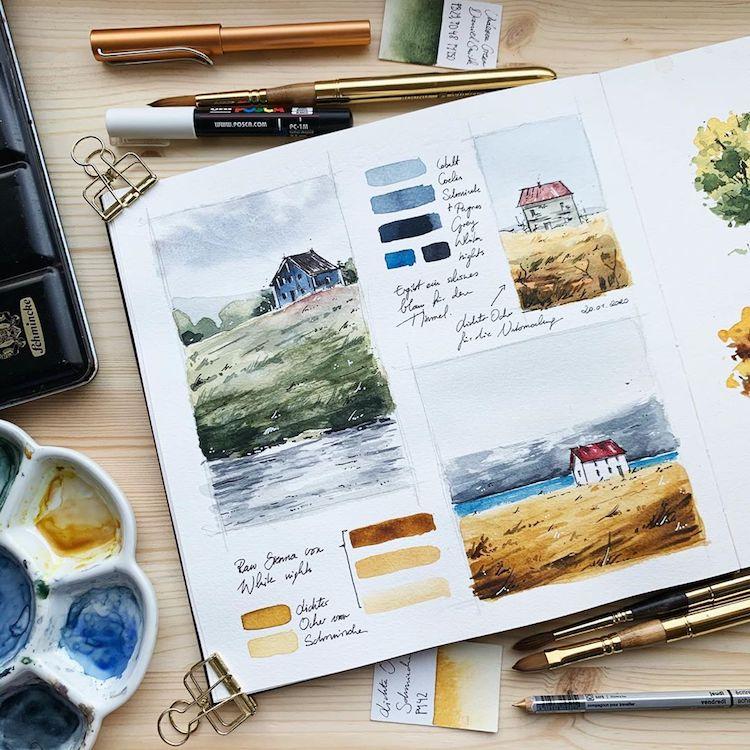 Jowita Marczuk Watercolor Illustrations