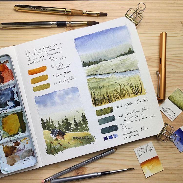Jowita Marczuk ilustraciones en acuarela