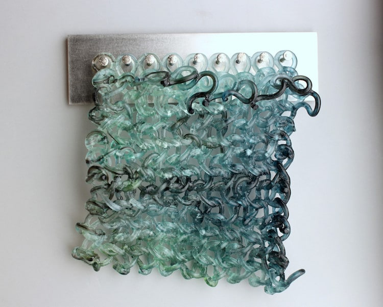 Knitted Glass Art by Carol Milne