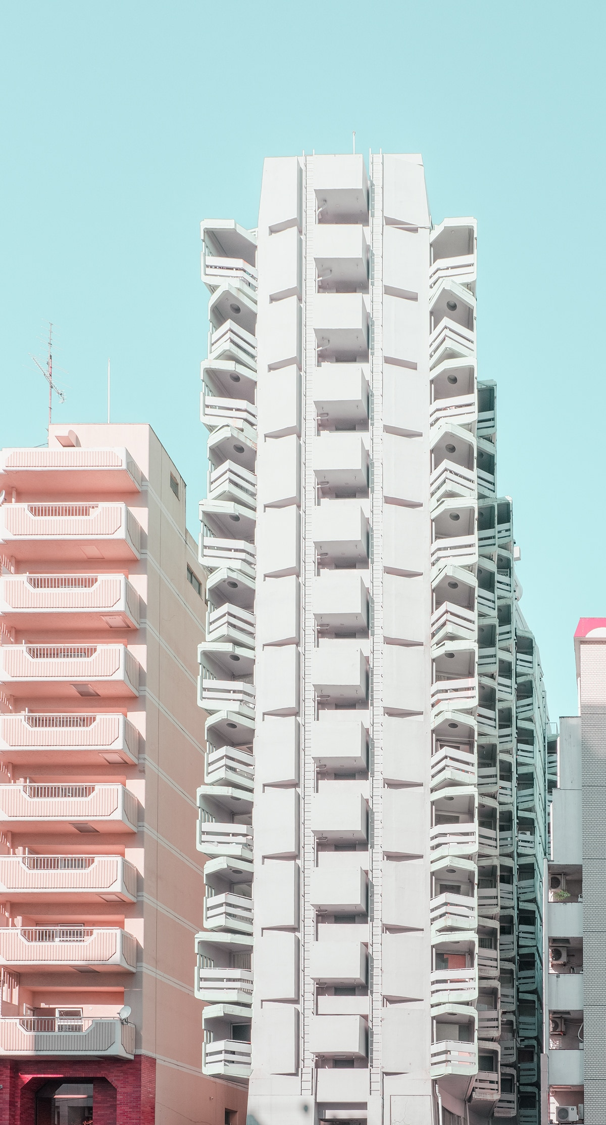 Tall Apartment Building in Tokyo