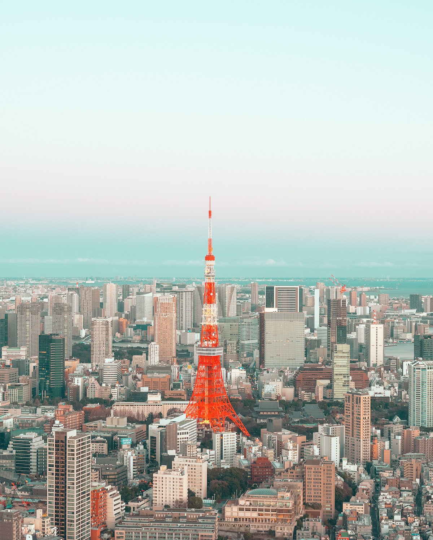 Tokyo Skyline by Ludwig Favre
