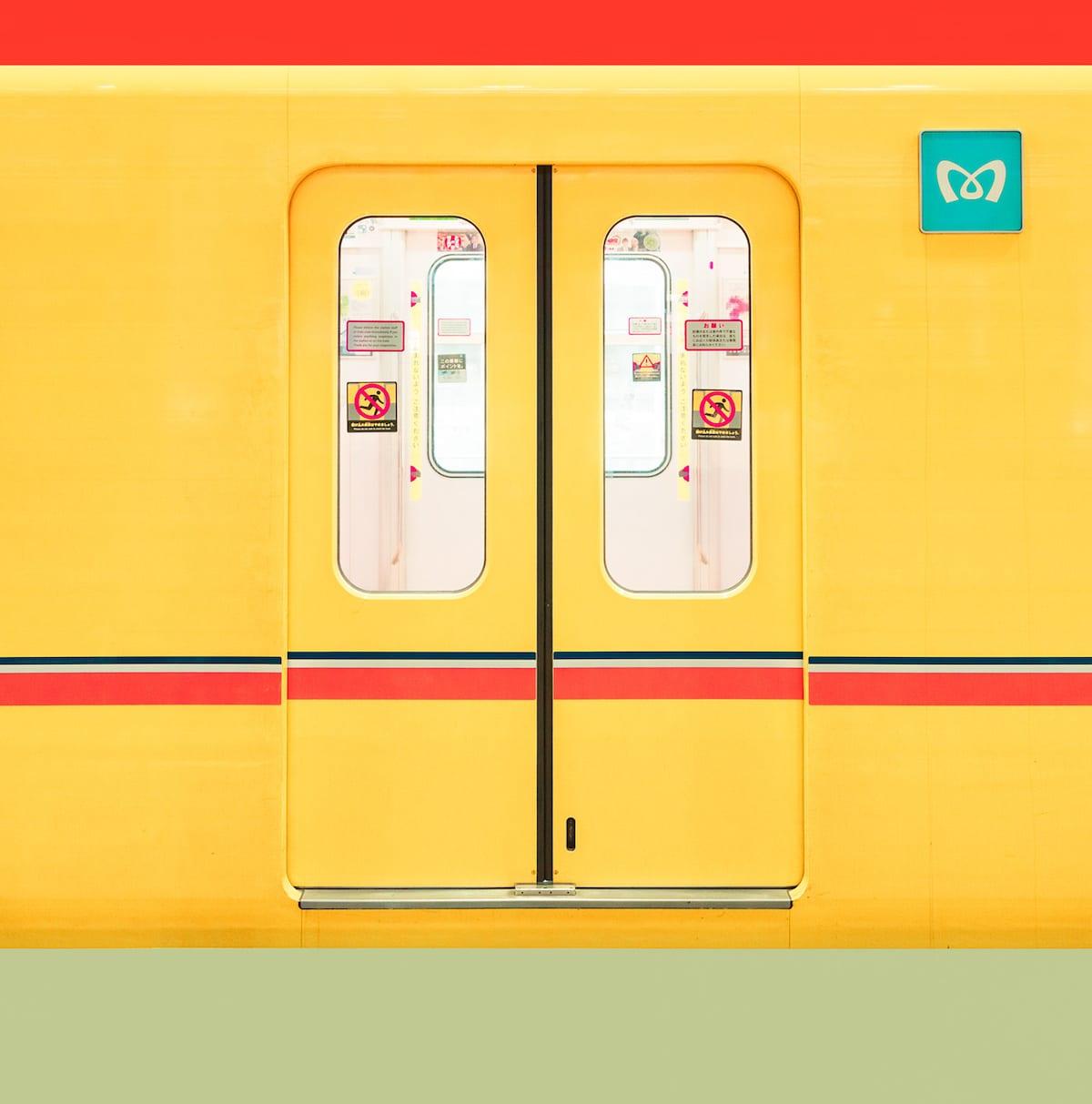 Yellow Subway in Tokyo