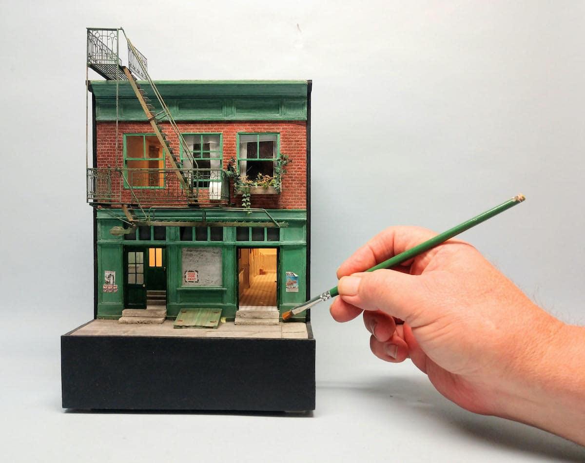 exposicion de arte en miniatura