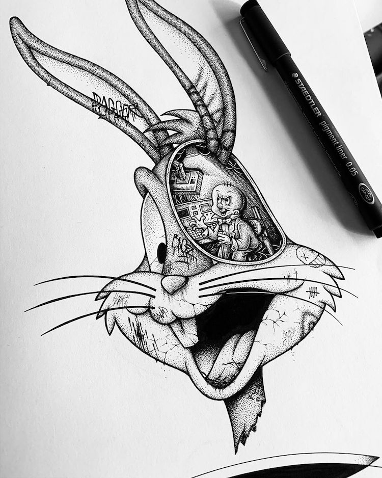 Bugs Bunny Illustration by Paul Jackson