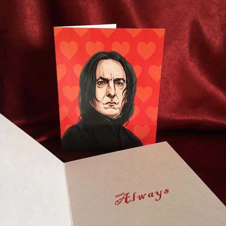 Snape Valentine's Day Card