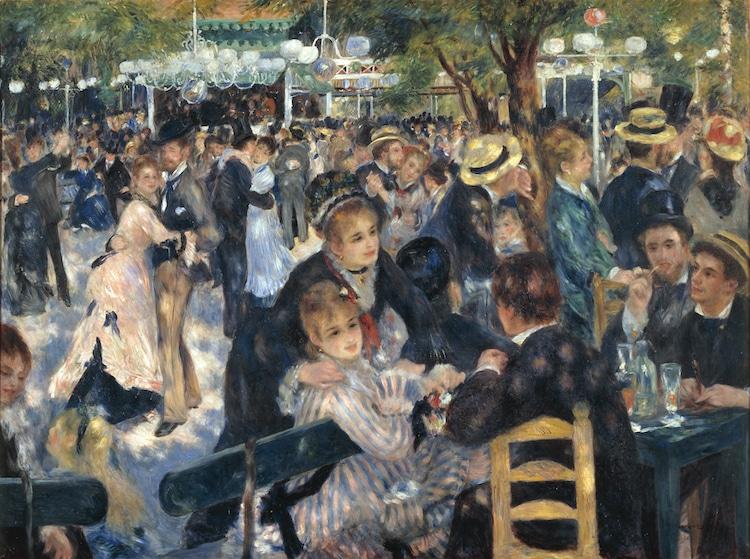 Bal du moulin de la Galette por Pierre-Auguste Renoir