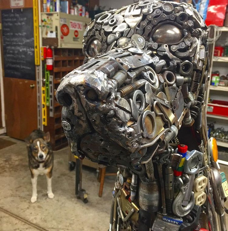 Scrap Metal Art by Brian Mock