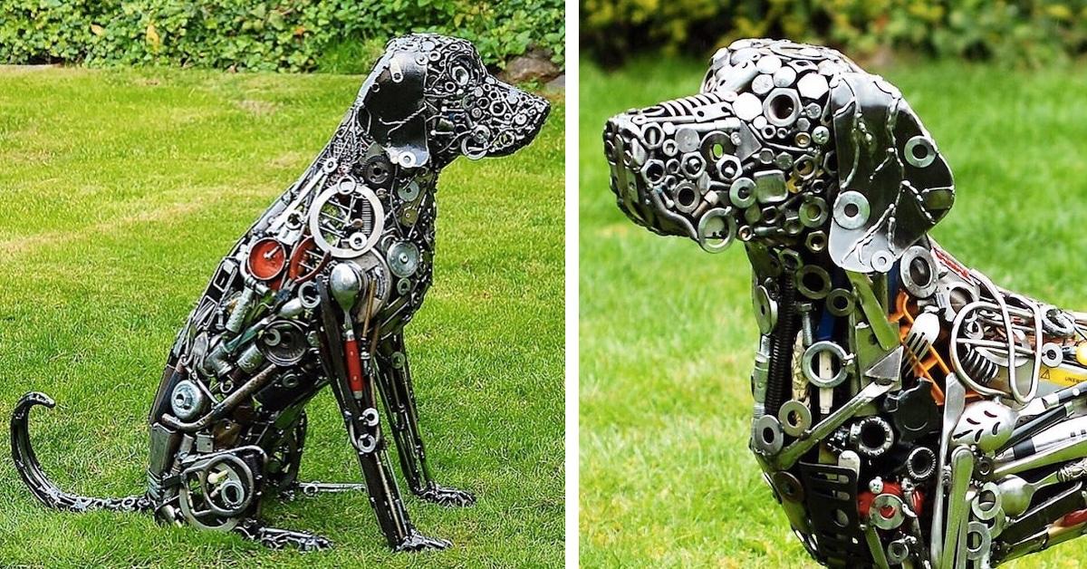 Artist Turns Scrap Metal Into Larger Than Life Outdoor Sculptures