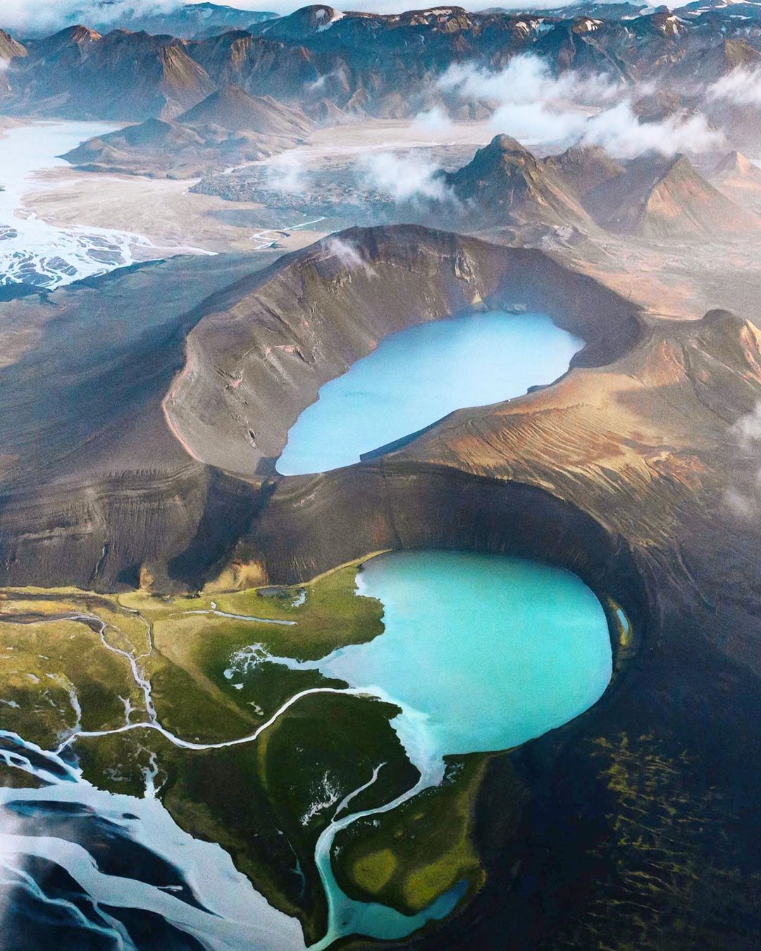 fotografia aerea de islandia
