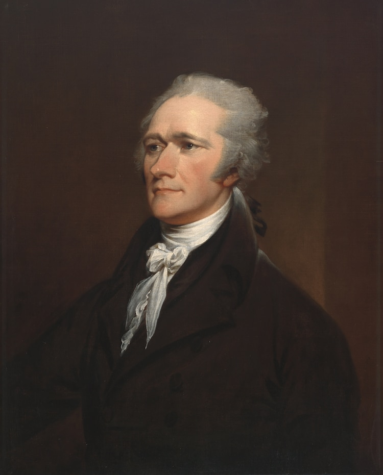 retrato de Alexander Hamilton