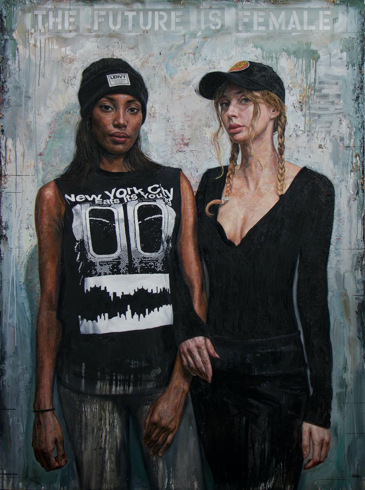 retratos al oleo de mujeres Tim Okamura