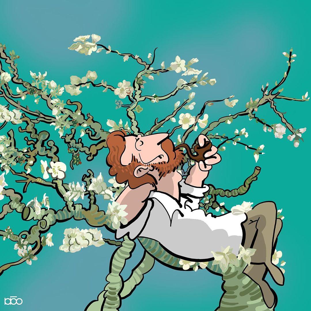 Van Gogh Comic Art by Alireza Karimi Moghaddam