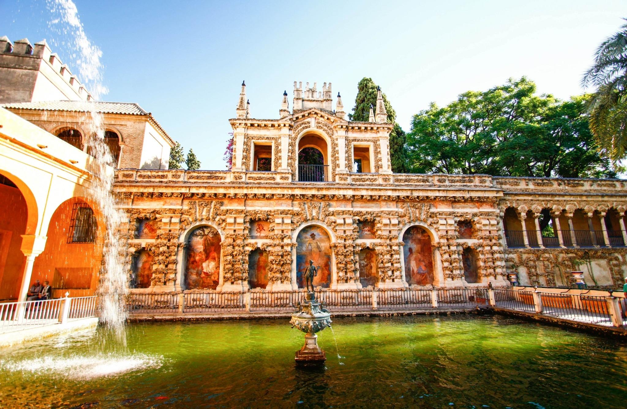 Estanque de Mercurio en el Alcázar de Sevilla