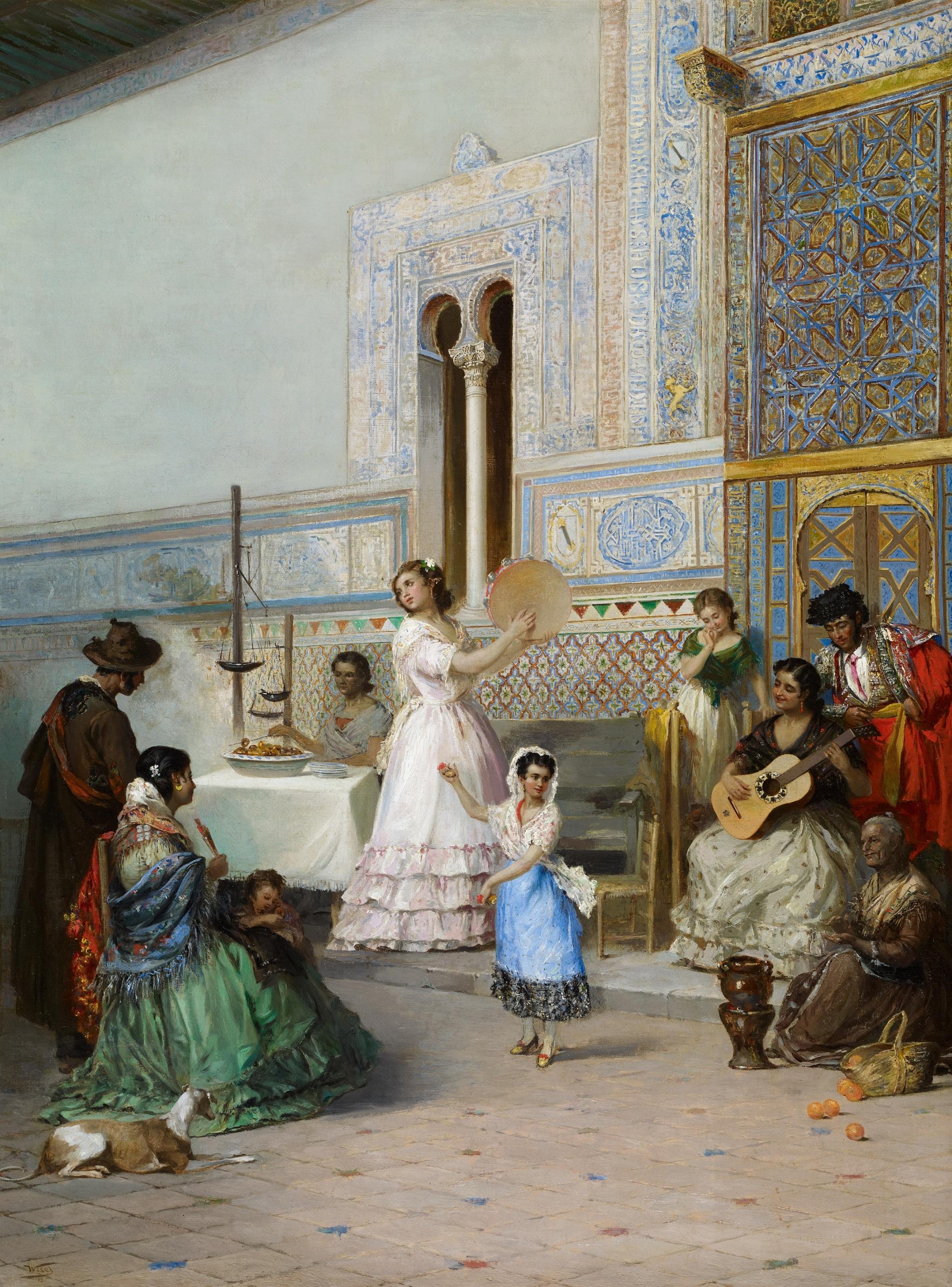 Pintura del Alcázar de Sevilla por Manuel Wssel de Guimbarda