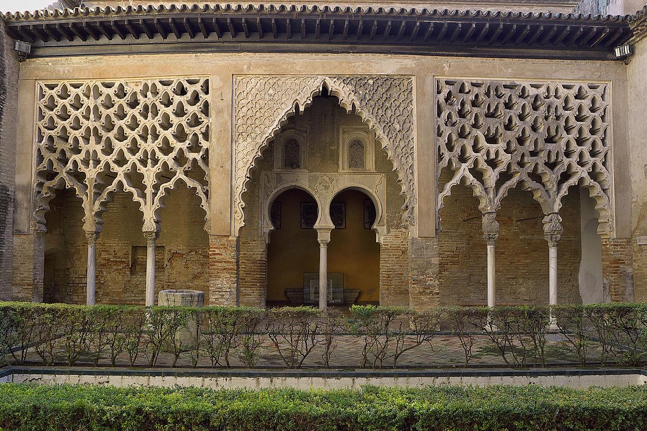 Patio del Yeso en el Alcázar de Sevilla