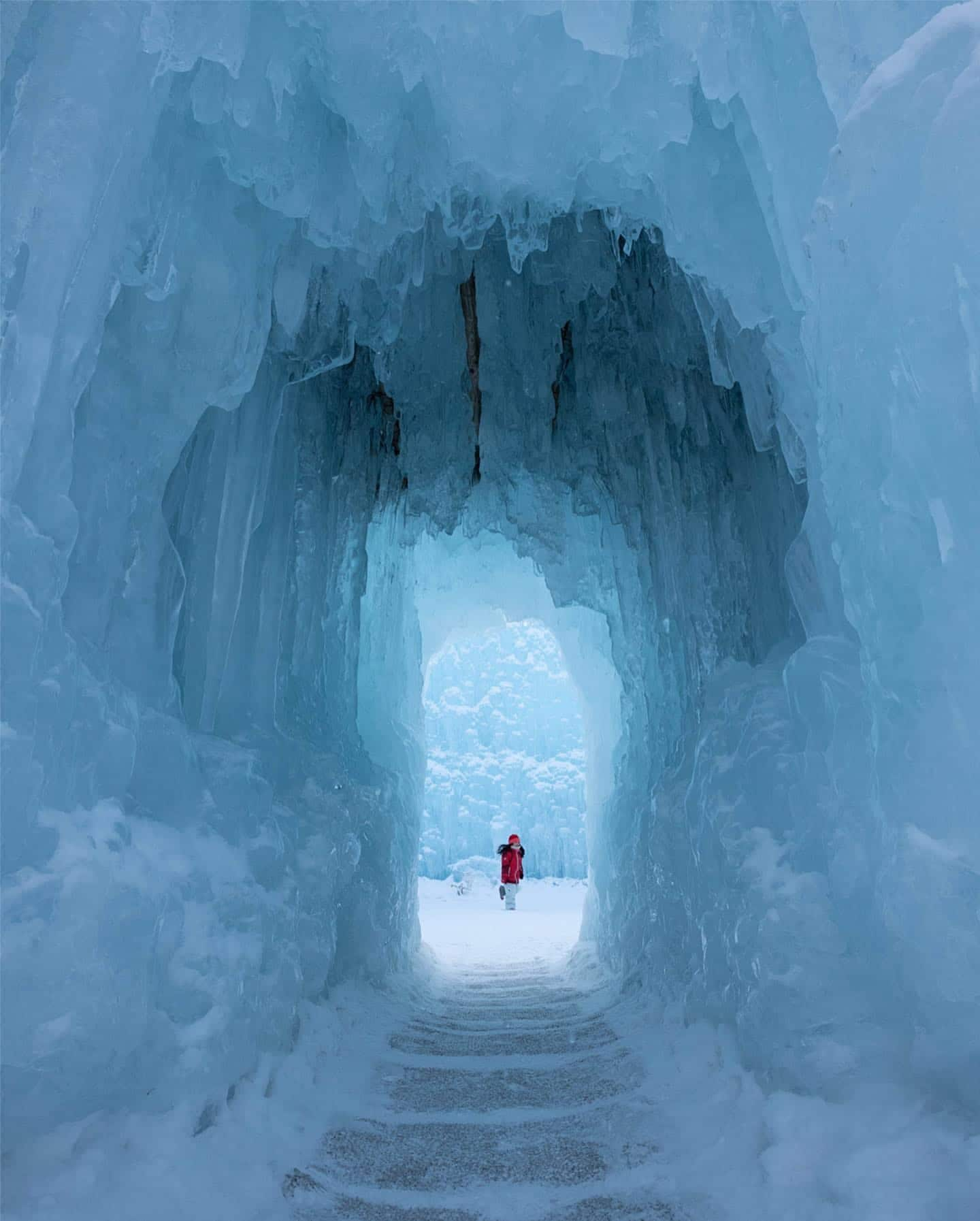 Ice Cave in Hokkaido