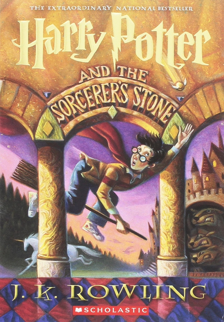 Cover of Harry Potter and the Sorcerer's Stone by JK Rowling