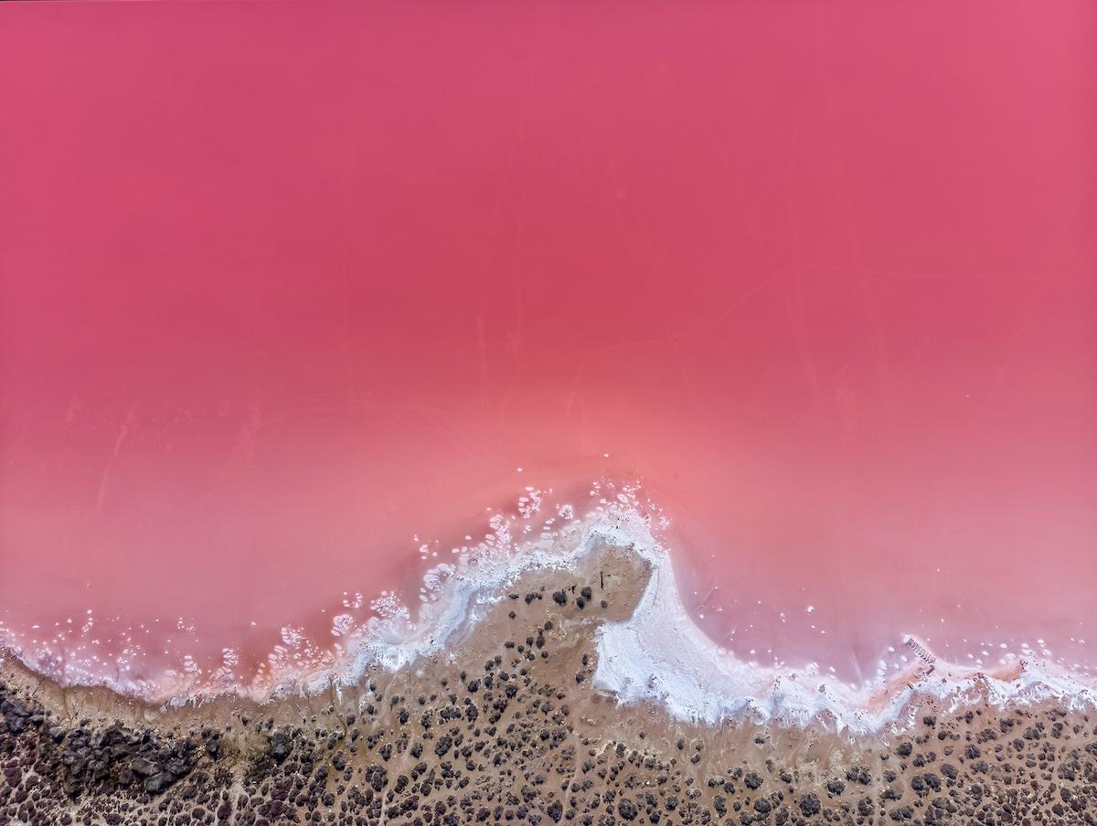 Lago rosa en España