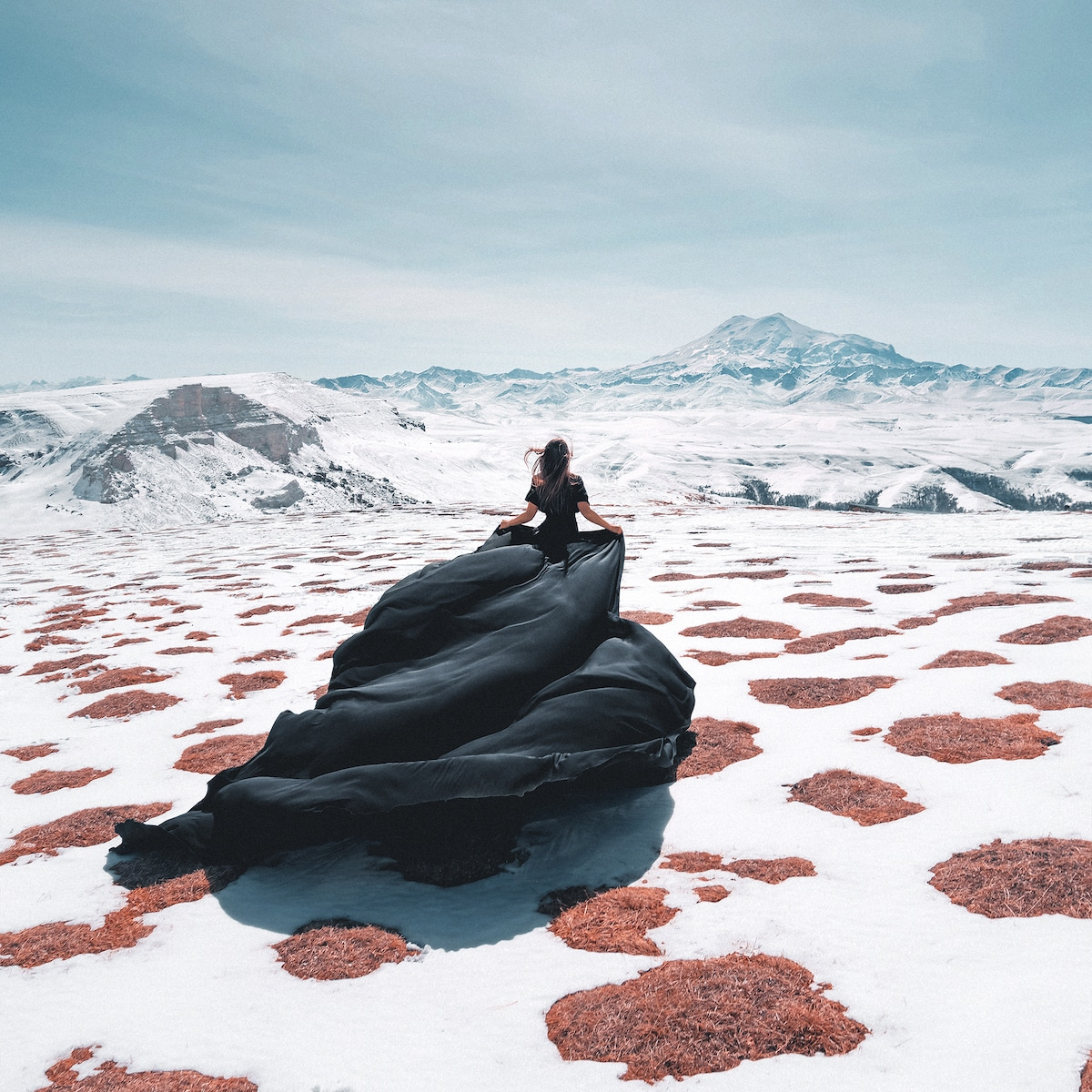Fashion Photo in Dramatic Landscape
