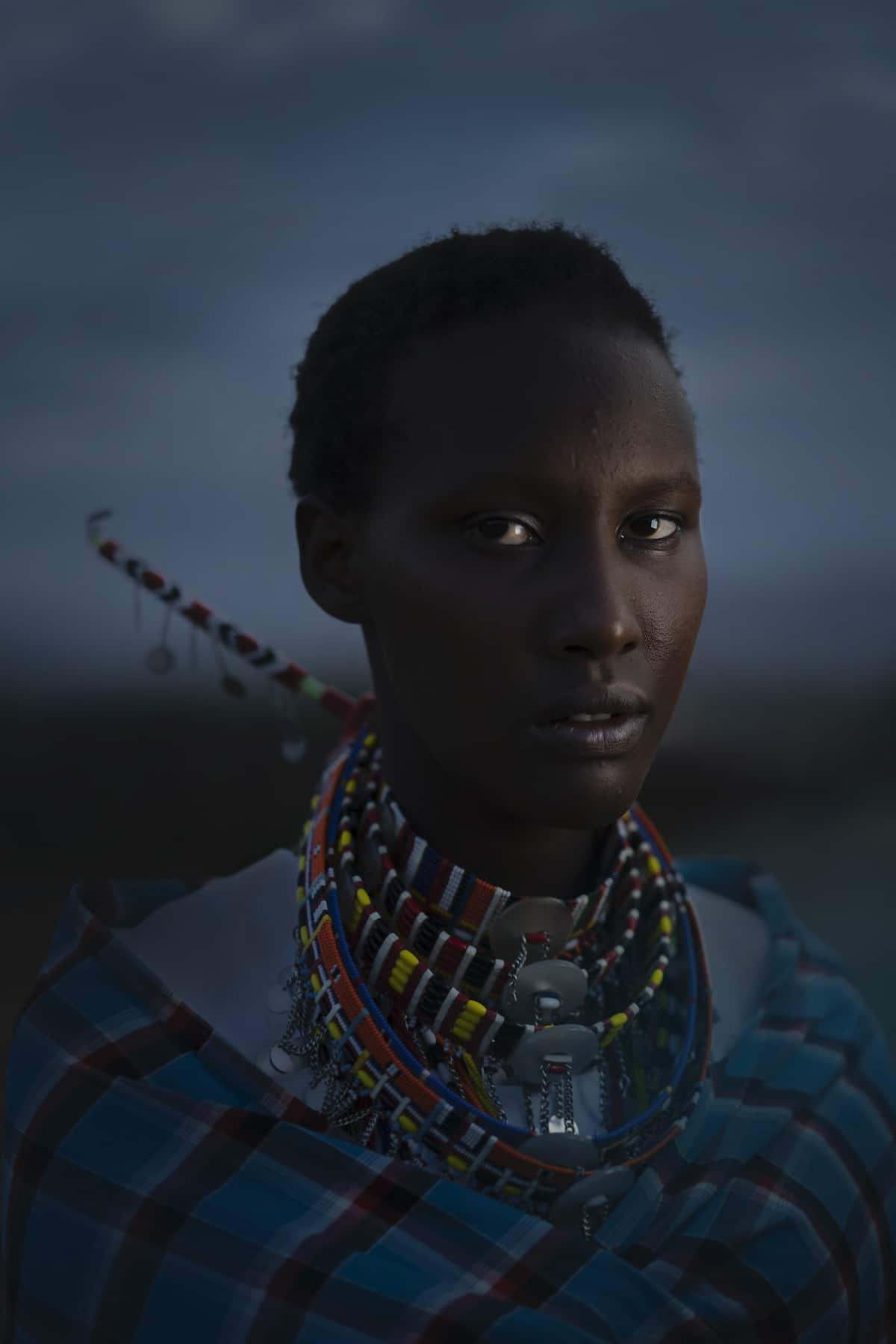 Retrato de mujer maasai