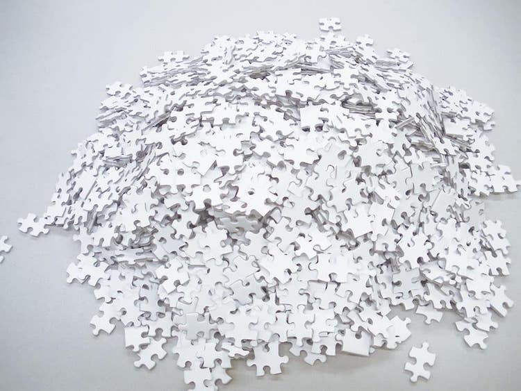 All White Puzzle by Beverly