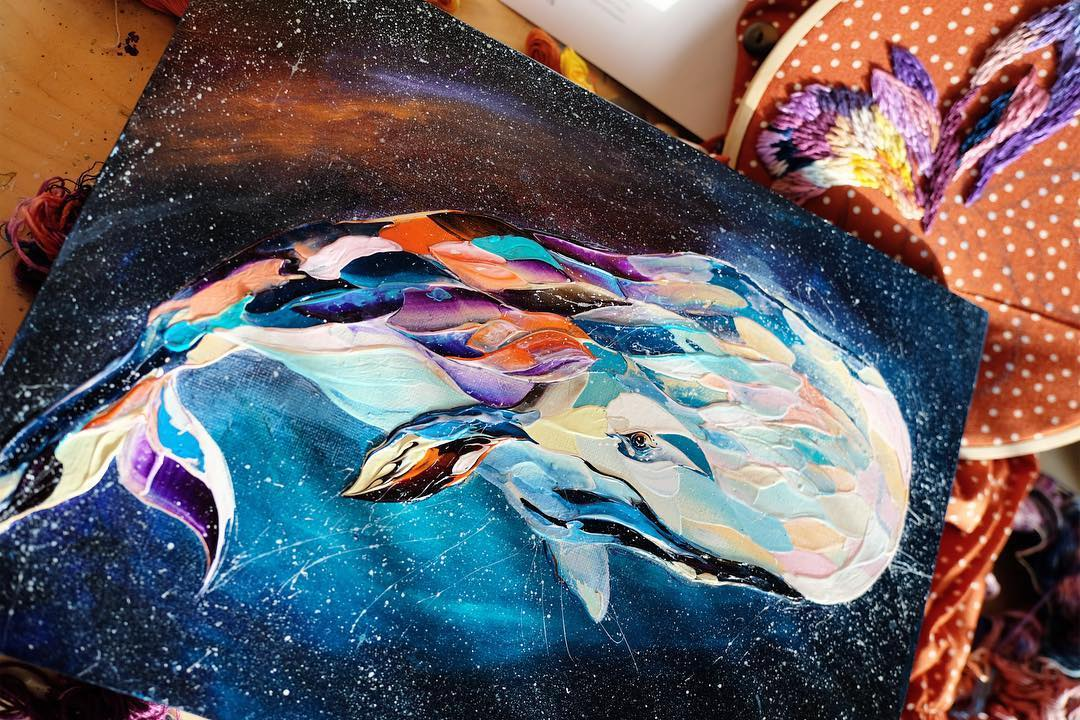 Animal Palette Knife Paintings by Anastasia Ablogina