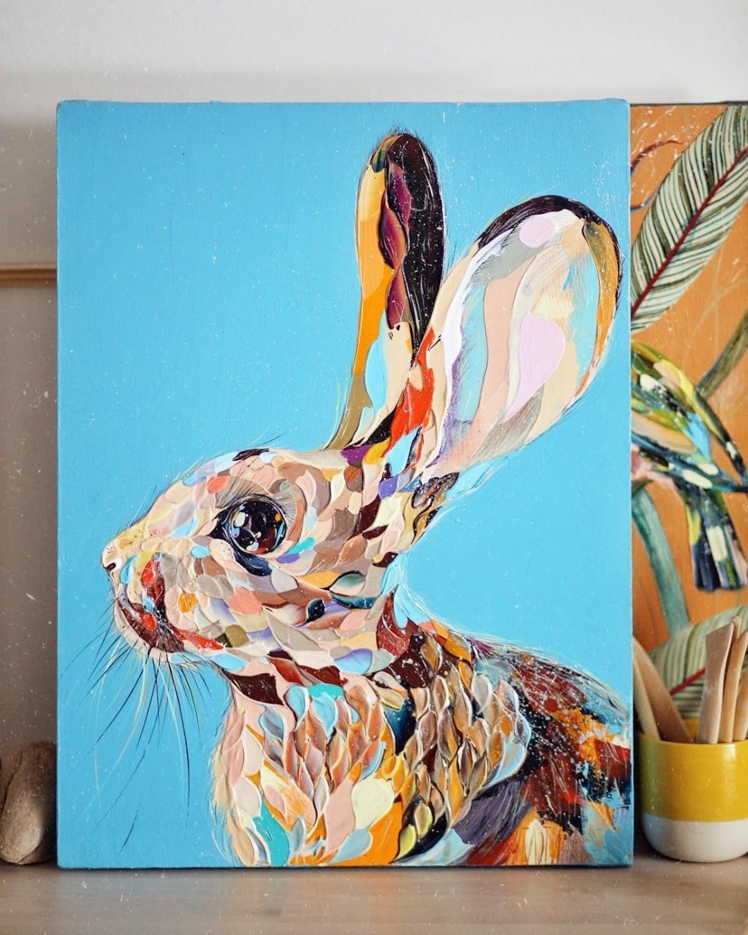 Animal Palette Knife Paintings by Anastasia Ablogina