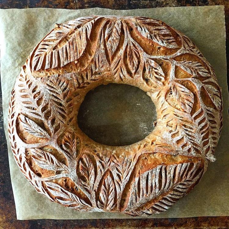 arte con pan por Blondie + Rye