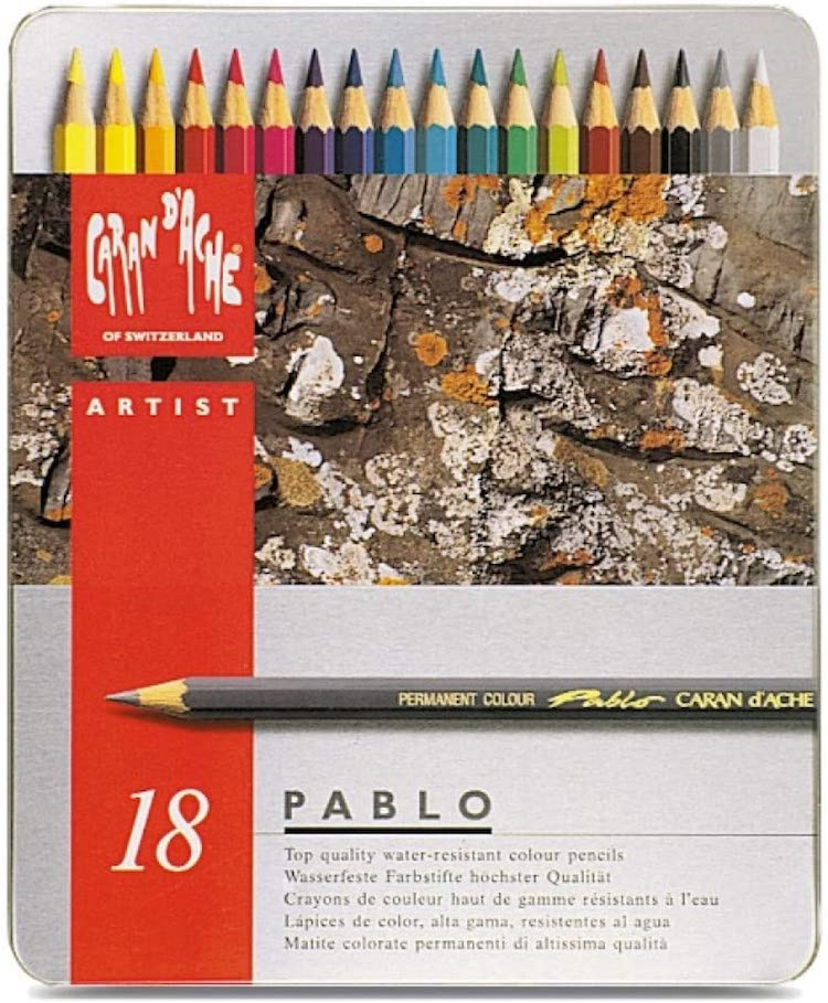 Caran d'Ache Colored Pencils Set of 18