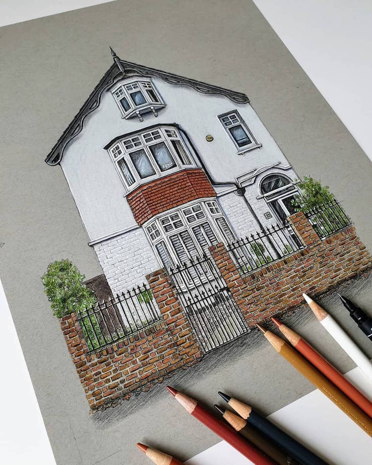 Drawing of a British Home