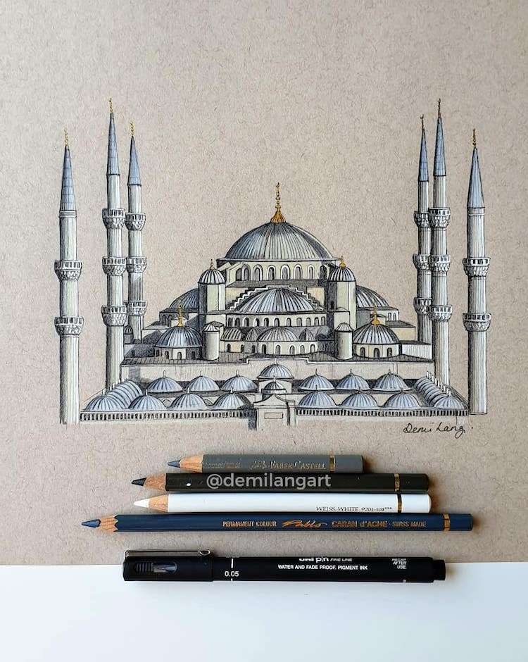 Detailed Drawing of Architecture
