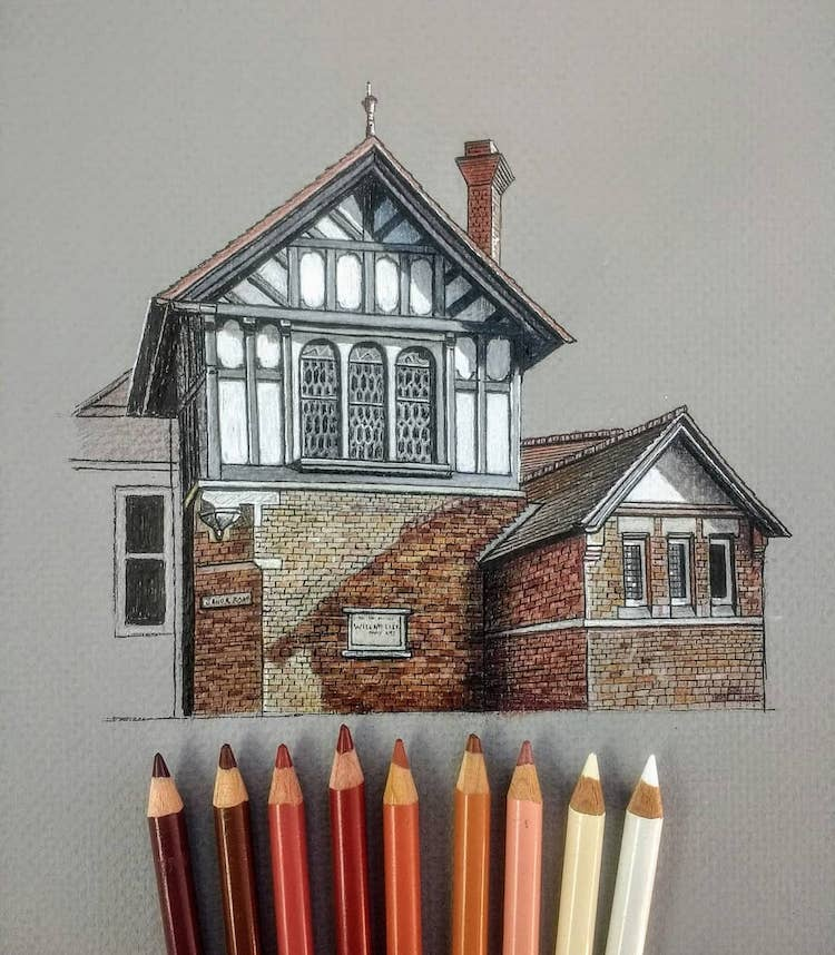 Drawing of English House