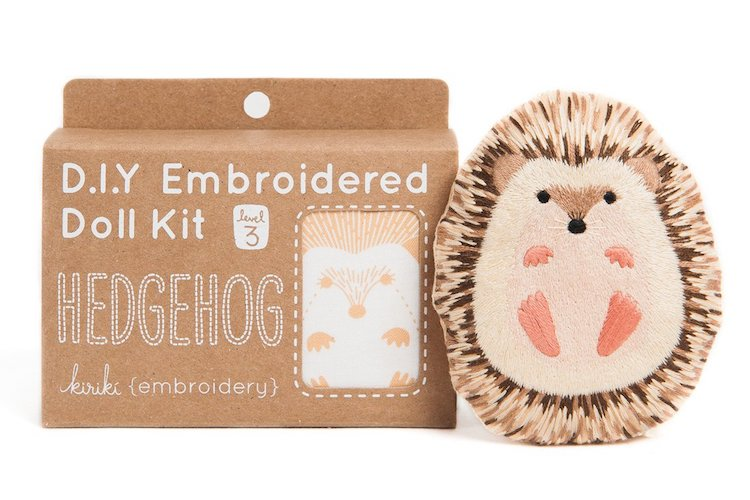 Hedgehog Embroidery Kit by Kiriki Press