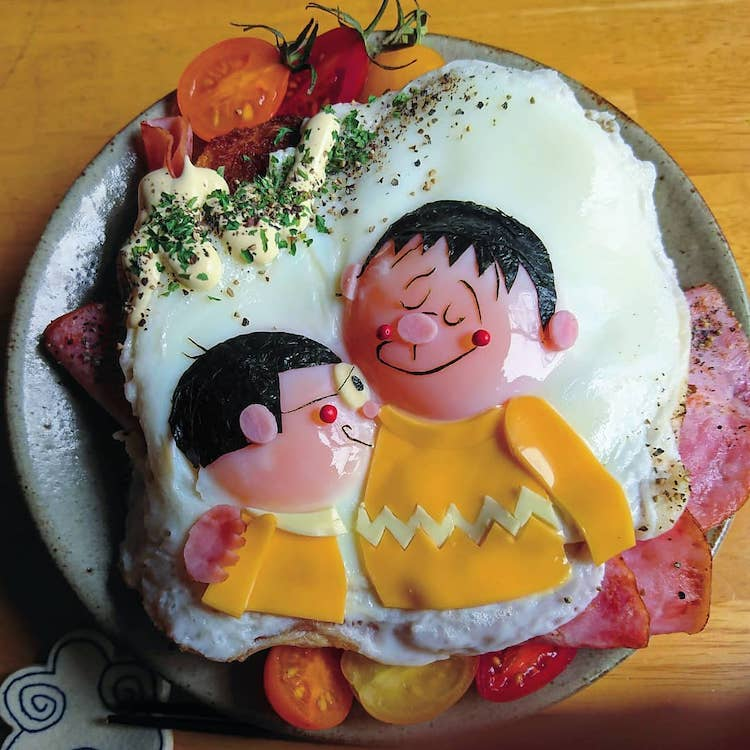 Food Art with Eggs by Etoni Mama