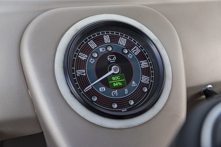 Speedometer in Electric Volkwagen
