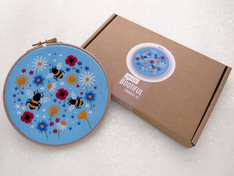 Oh Sew Bootiful Bees Embroidery Kit