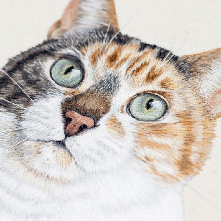 retrato de mascotas bordado Michelle Staub