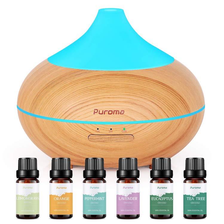 Set de difusor y aceites esenciales de Puroma