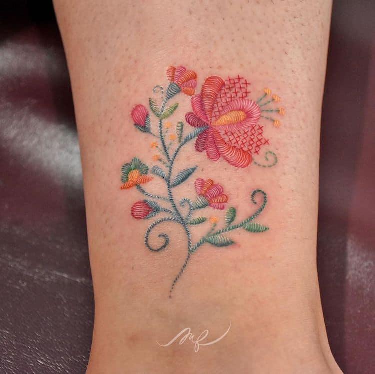 tatuajes bordados mexicanos
