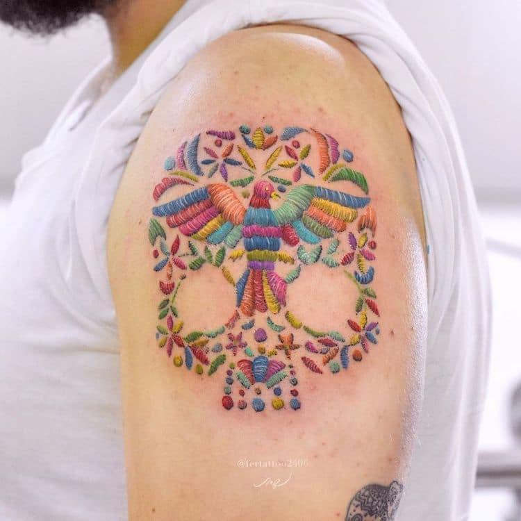 tatuajes bordados tenango